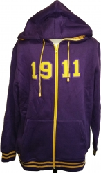 View Buying Options For The Omega Psi Phi 1911 Applique Zip-Up Mens Hoodie