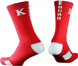 View Buying Options For The Kappa Alpha Psi Greekfeet Mens Athletic Dri-Fit Crew Socks