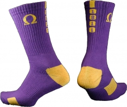 View Buying Options For The Omega Psi Phi Greekfeet Mens Athletic Dri-Fit Crew Socks