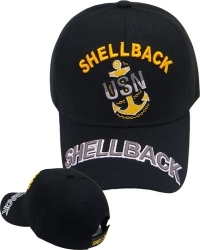 View Buying Options For The US Navy Shellback Text On Bill Mens Cap