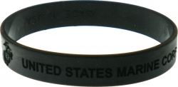View Buying Options For The United States Marine Corps Debossed Silicone Wristband [Pre-Pack]
