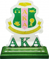 View Buying Options For The Alpha Kappa Alpha Acrylic Desktop Piece with Color Wooden Base