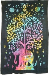 View Buying Options For The Elephant Tree Twin Size Bedspread Cloth Tapestry
