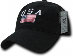 View Buying Options For The RapDom USA Flag Polo Mens Mesh Back Cap