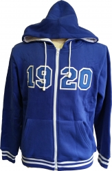 View Buying Options For The Zeta Phi Beta 1920 Applique Zip-Up Ladies Hoodie