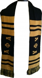 View Buying Options For The Alpha Phi Alpha 2-Ply Knit Scarf