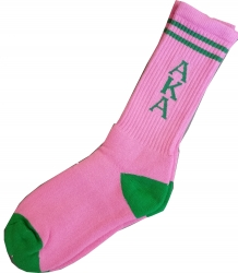 View Buying Options For The Alpha Kappa Alpha Long Crew Socks