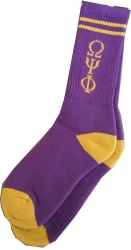 View Buying Options For The Omega Psi Phi Long Crew Socks