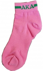 View Buying Options For The Alpha Kappa Alpha Footie Socks