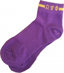 View Buying Options For The Omega Psi Phi Footie Socks