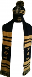 View Buying Options For The Alpha Phi Alpha Knit Beanie Cap & 2-Ply Scarf Set