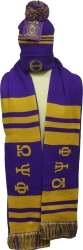 View Buying Options For The Omega Psi Phi Mens Knit Beanie Skull Cap & 2-Ply Scarf Set