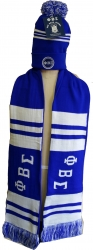 View Buying Options For The Phi Beta Sigma Knit Beanie Cap & 2-Ply Scarf Set