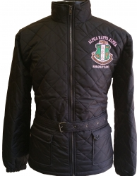 View Buying Options For The Buffalo Dallas Alpha Kappa Alpha Quilted Belt Ladies Riding Jacket