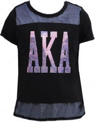 View Buying Options For The Alpha Kappa Alpha Divine 9 Mesh Ladies Tee