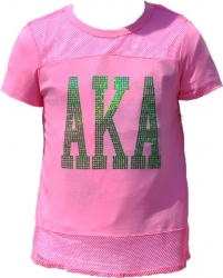 View Buying Options For The Alpha Kappa Alpha Divine Mesh Sequins Ladies Tee