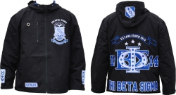 View Buying Options For The Phi Beta Sigma Divine 9 S3 Mens Hooded Windbreaker Jacket