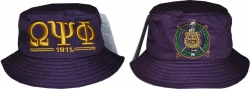 View Buying Options For The Omega Psi Phi Divine 9 S3 Mens Bucket Hat