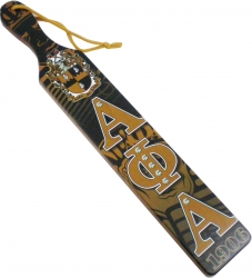 View Buying Options For The Alpha Phi Alpha Printed Crest Pattern Background Wood Paddle