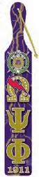 View Buying Options For The Omega Psi Phi Printed Crest Pattern Background Wood Paddle