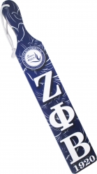 View Buying Options For The Zeta Phi Beta Printed Crest Pattern Background Wood Paddle