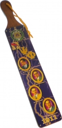 View Buying Options For The Omega Psi Phi Founders Acrylic Topped Pattern Back Wood Paddle