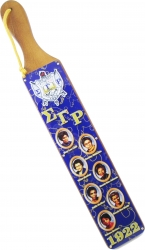 View Buying Options For The Sigma Gamma Rho Founders Acrylic Topped Pattern Back Wood Paddle