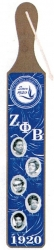 View Buying Options For The Zeta Phi Beta Founders Acrylic Topped Pattern Back Wood Paddle