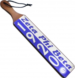 View Buying Options For The Zeta Phi Beta Acrylic Topped Mirror Year Wood Paddle