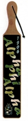 View Buying Options For The Alpha Phi Alpha Acrylic Topped Script Wood Paddle