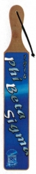 View Buying Options For The Phi Beta Sigma Acrylic Topped Script Wood Paddle