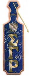 View Buying Options For The Sigma Gamma Rho Raised Mirror Letters & Shield Domed Paddle