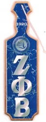 View Buying Options For The Zeta Phi Beta Raised Mirror Letters & Shield Domed Paddle