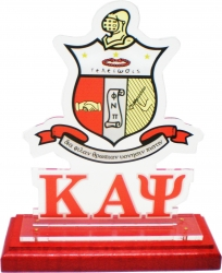 View Buying Options For The Kappa Alpha Psi Acrylic Desktop Piece with Color Wooden Base