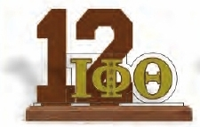 View Buying Options For The Iota Phi Theta Line #12 Desktop Piece with Wooden Base