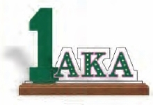 View Buying Options For The Alpha Kappa Alpha Line #1 Desktop Piece with Wooden Base