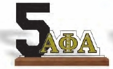 View Buying Options For The Alpha Phi Alpha Line #5 Desktop Piece with Wooden Base