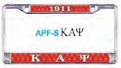 View Buying Options For The Kappa Alpha Psi Domed Acrylic Pattern Back License Plate Frame