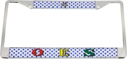 View Buying Options For The Eastern Star Domed Acrylic Pattern Back License Plate Frame