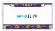 View Buying Options For The Omega Psi Phi Domed Acrylic Pattern Back License Plate Frame