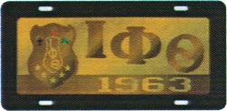 View Buying Options For The Iota Phi Theta Domed Shield Mirror Car Tag License Plate