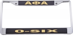 View Buying Options For The Alpha Phi Alpha O-Six Call License Plate Frame