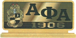 View Buying Options For The Alpha Phi Alpha Domed Desktop Piece