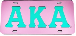 View Buying Options For The Alpha Kappa Alpha Inlaid Mirror License Plate