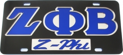 View Buying Options For The Zeta Phi Beta Z-Phi Mirror Insert Car Tag License Plate