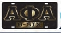 View Buying Options For The Alpha Phi Alpha O-Six Call Mirror Insert Car Tag License Plate