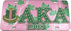 View Buying Options For The Alpha Kappa Alpha Printed Symbol Crest Mirror License Plate