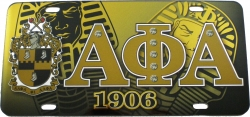 View Buying Options For The Alpha Phi Alpha Printed Symbol Shield Mirror License Plate