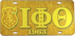 View Buying Options For The Iota Phi Theta Printed Symbol Shield Mirror License Plate