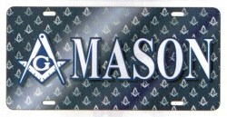 View Buying Options For The Mason Printed Symbol Mirror License Plate